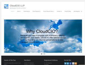 CloudCIO website homepage